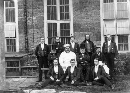 Male staffing for Petsworth House, 1870s.